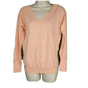 J Crew Pullover Knit Top Sweater Size M Orange